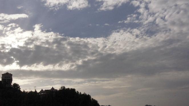 The evening sky of Shimla.