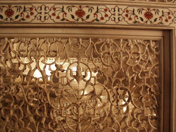Mumtaz's Tomb inside the Taj Mahal
